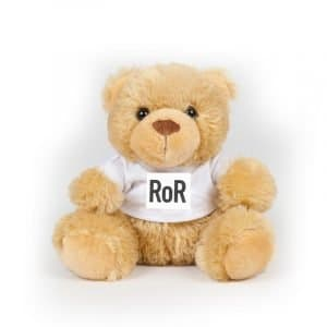 RoR Bear in a Tee with RoR Logo